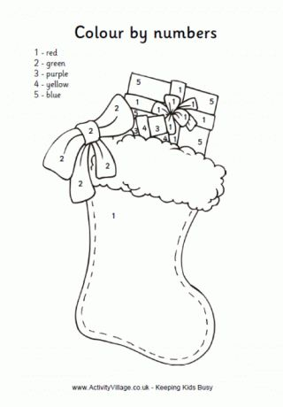 Christmas Color By Numbers sheets: free printables
