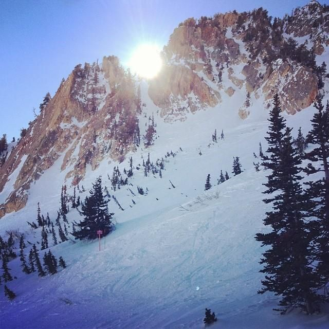 #Ski on through the perfect slopes at Snowbasin Resort in #Utah.    Photo courtesy of ckmercier on Instagram.
