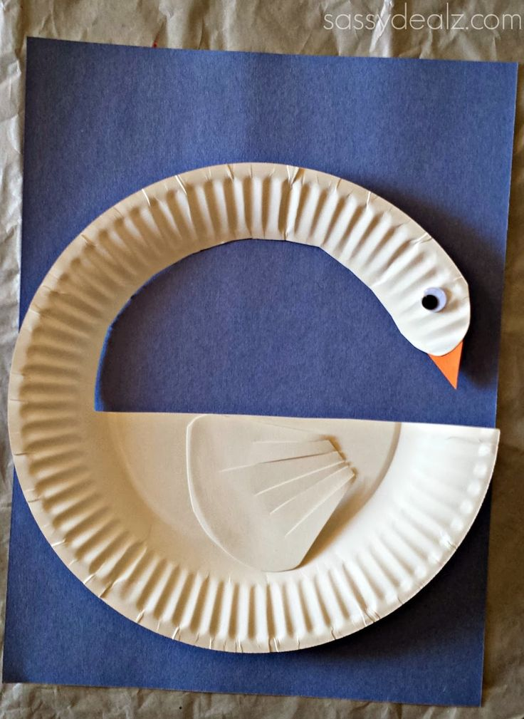 Paper Plate DIY Crafts | To make the wing part, take the first extra piece of plate and cut ...