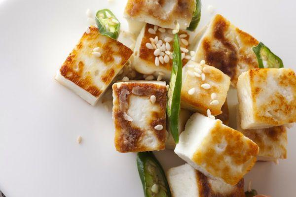 Жаренный тофу с овощами