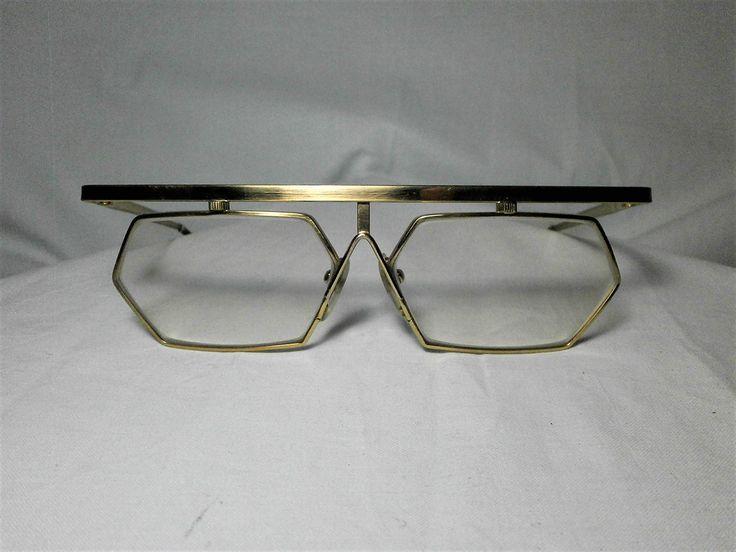 Unique! Hiol Germany (?), Art Deco Avante-garde, 22kt gold filled hexagonal eyeglasses frame, men's, women's, unisex, hyper vintage by FineFrameZ on Etsy