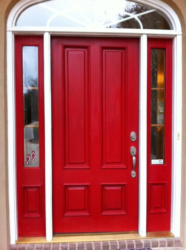 Elegant Front Door After Annie Sloan U0027Emperoru0027s Silku0027 Chalk Paint. Now If I Can  Just Talk Joe Into A Red Front Door!