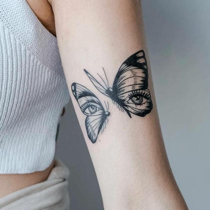 28+ Wonderful simple sleeve butterfly tattoo design ideas
