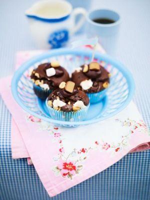 Leilas Rocky Road Cupcakes är fantastiskt goda! Från senaste boken Hello cupcake! Foto: Wolfgang Kleinschmidt