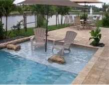 Small Inground Pools - I Just love the idea of just sitting down and having my feet in the water!!!