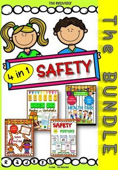 Safety  4 in 1 - Bundle This MASSIVE SAFETY Bundle is a compilation of all of my safety packs! This bundle provides tons of hands-on and interactive learning for kids! The use of colorful figures with understanding will create deep interest among students to learn subject as mentioned below to help with fluency and building reading confidence.1 - Safety & First Aid  Unit Pack with Worksheets: It is a child-friendly Unit pack on Safety (at school, at home, in the playground & on road) ...