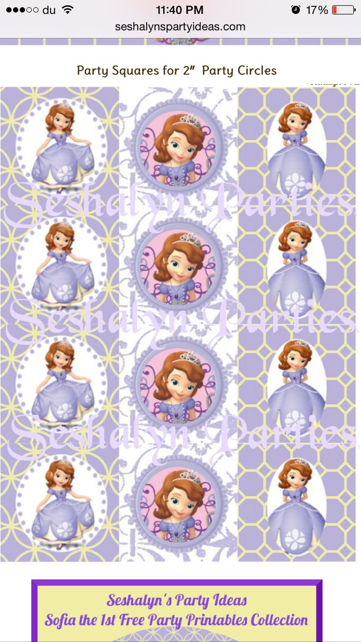 61 best sofia images on pinterest princesses princess sofia sofia the first free party printables amipublicfo Images