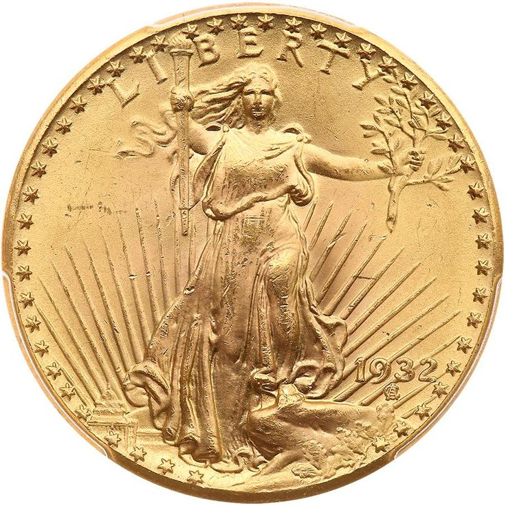 1932 $20 St. Gaudens PCGS MS65 A frosty untoned coin with over 1 million minted, but virtually all were melted, leaving fewer than 100 of these today. This is one of the key dates to the series of Saint-Gaudens which is seldom offered, especially this nice. With the 1933 double eagles still under litigation and likely to be off the market going forward, this is the last obtainable date for most collectors. An opportunity for the astute numismatist. In early 1933 President Roosevelt called in…