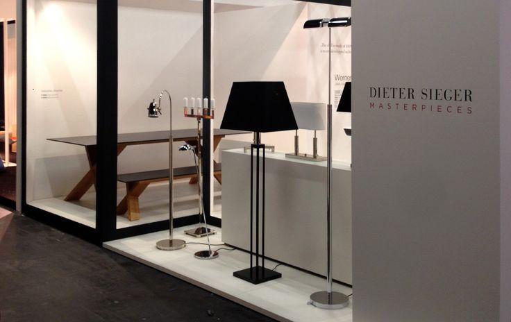 Tak wyglądała nasze ekspozycja na Targach Messen 2014. Na pierwszym planie ekskluzywne lampy autorstwa Dieter Sieger.