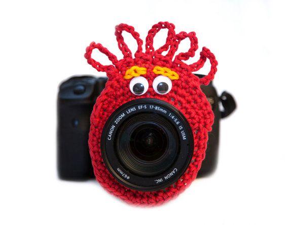 Red Alien Camera Buddy, Alien Lens Buddy, Alien Camera Critter, Newborn Photography Prop