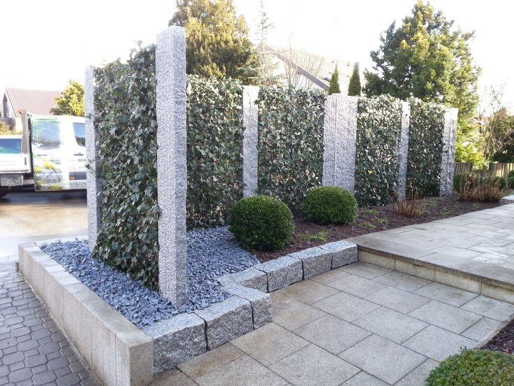 Sichtschutz, Garten Marohn \ Binder Gartengestaltung in - gartengestaltung sichtschutz stein