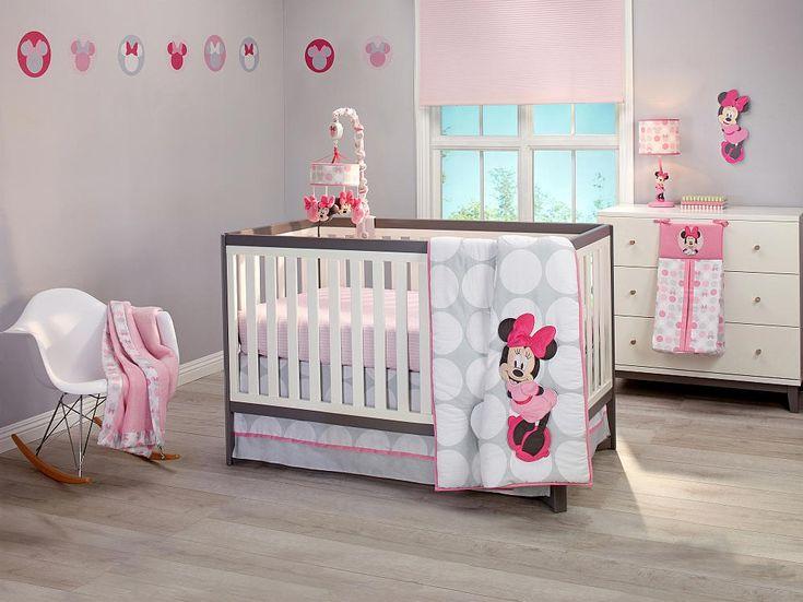 MINNIE MOUSE Polkadots Premier 4-Piece Crib Bedding Set