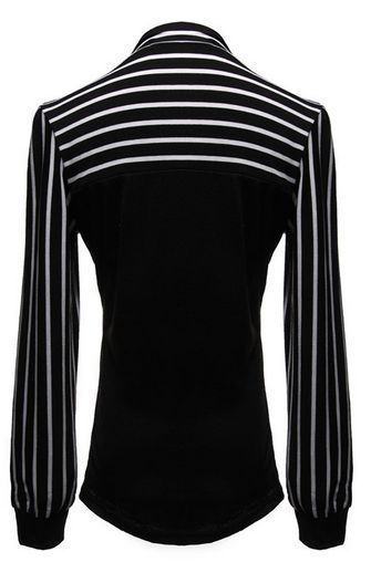 Gender: Women Decoration: Bow Pattern Type: Striped Sleeve Style: lantern Sleeve Style: Fashion Fabric Type: Broadcloth Material: Cotton,Polyester Collar: O-Nec