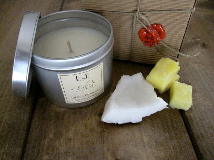 """Candela di soia Cocco Ananas, """"Bahia"""" di Esther's Essence Candles su DaWanda.com"""