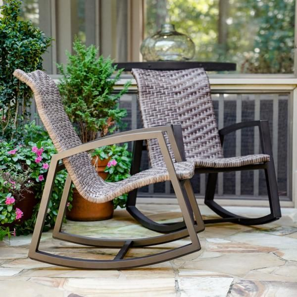 Rocking Chair Porch Patio, Outdoor Patio Furniture With Rocking Chairs