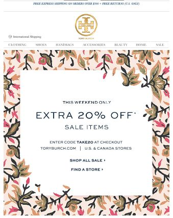 memorial day sale tory burch