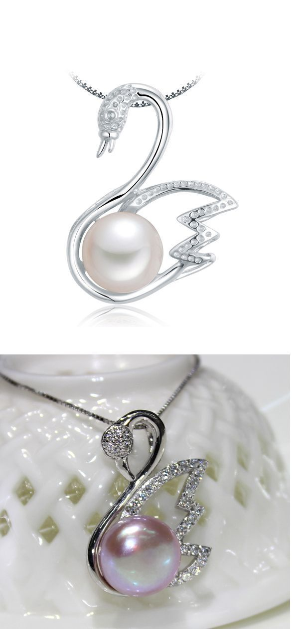 f629023bbb285 swan pearl pendant,single pearl pendant necklace,freshwater pearl ...