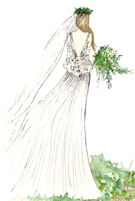 Boceto novia