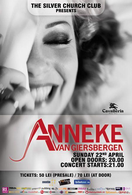 Anneke, pe 22 aprilie, la Silver Church. Un concert ce nu trebuie ratat cu nici un, I said nici un chip :)