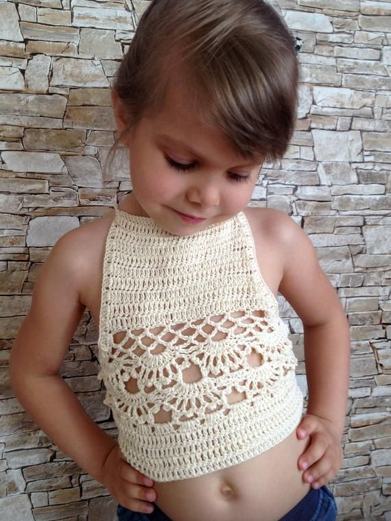 Amazing Set of three crochet toddler top. Red, pink and