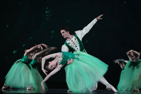 Elegant Emeralds in George Balanchine's Jewels.