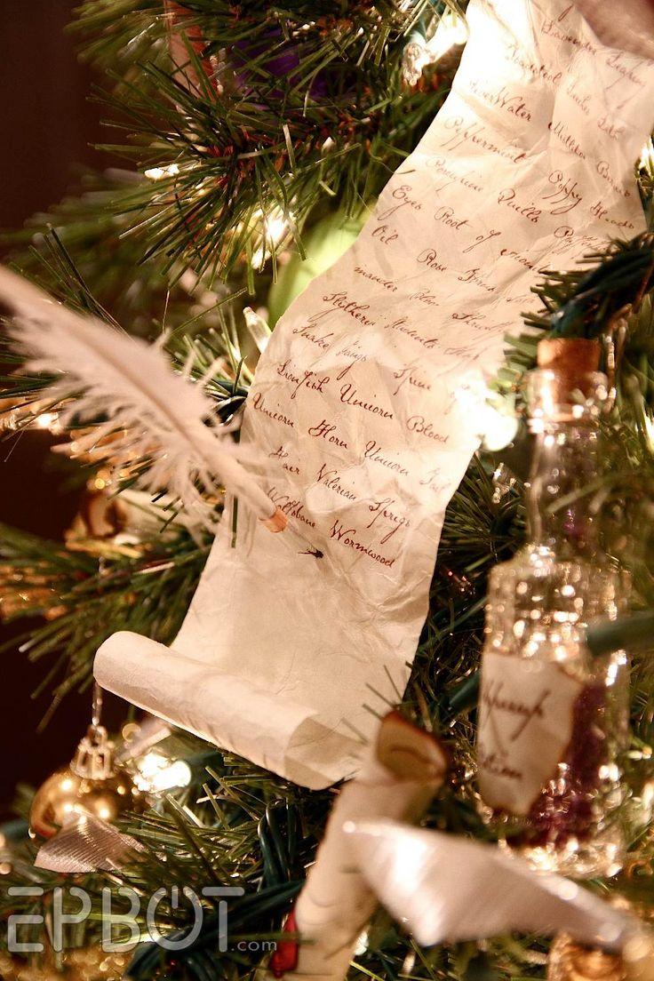 Harry potter christmas ornament - Epbot Final Potter Tree Reveal Winged Keys Potion Bottles Floating Quills Hogwarts Christmasharry