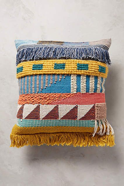 Hand-Embroidered Kala Pillow - anthropologie.com