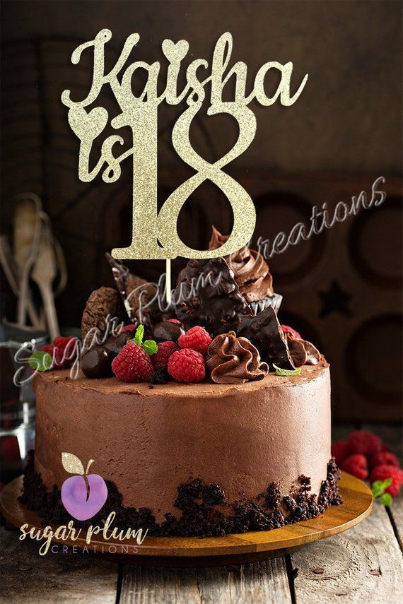 Sensational Any Name Number Glitter 18Th Birthday Cake Topper Eighteenth Funny Birthday Cards Online Inifofree Goldxyz