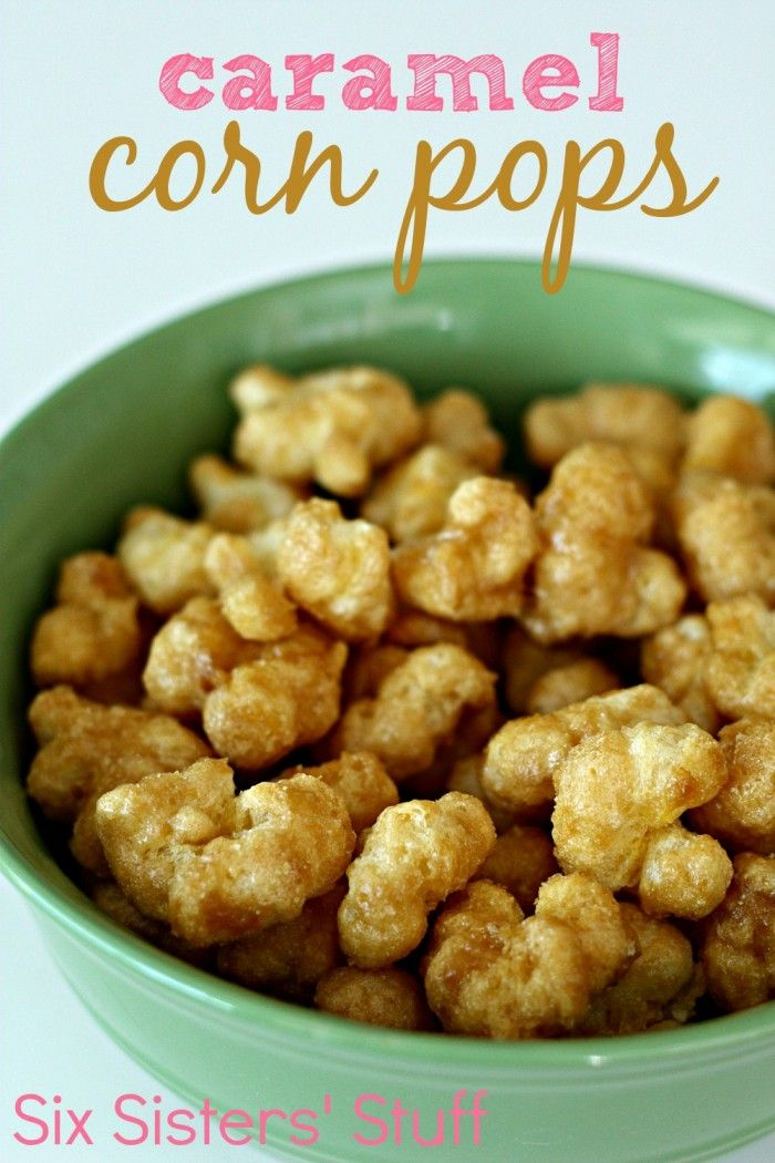 Caramel Corn Pops Recipe on MyRecipeMagic.com/Hull less caramel corn