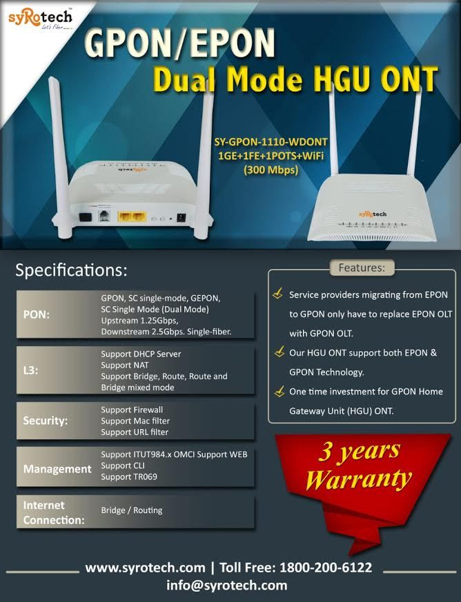 Gigabit Passive Optical Networks  GPON is a point-to
