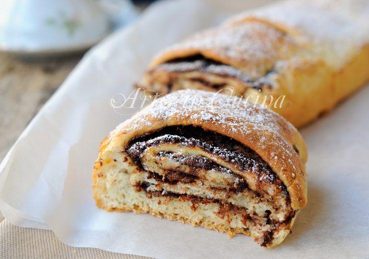 Rotolo di pan brioche alla nutella sfogliato facile vickyart arte in cucina