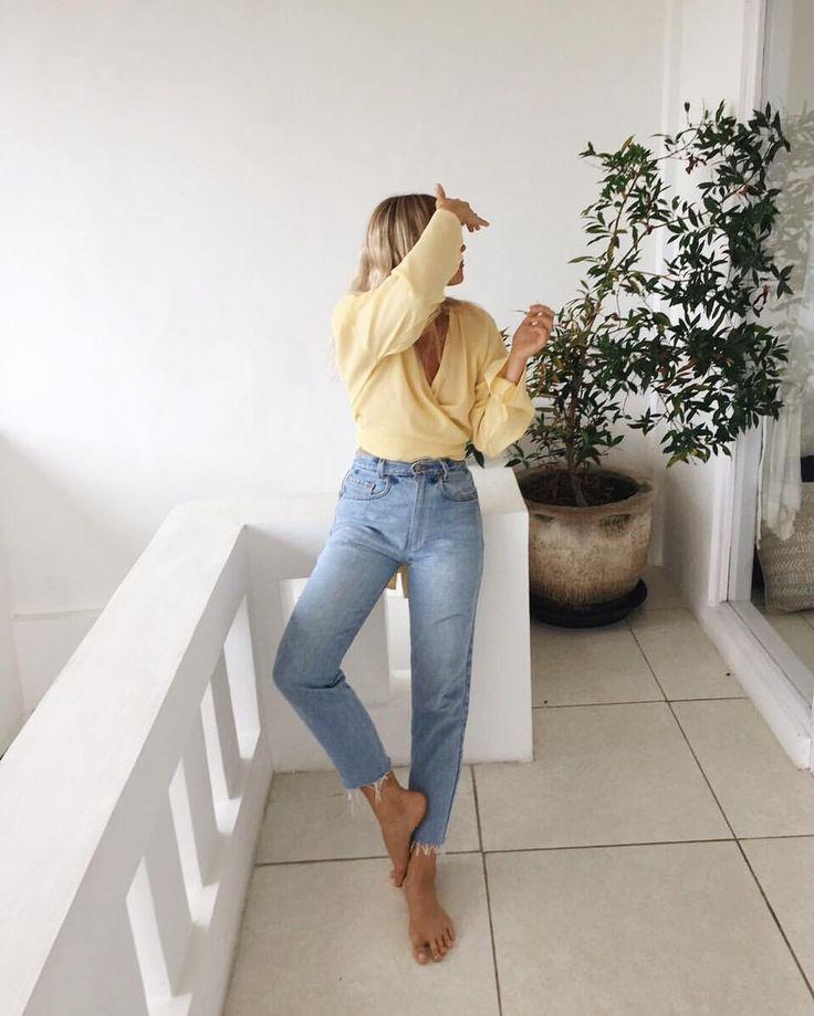 lemon yellow and denim | women's fashion