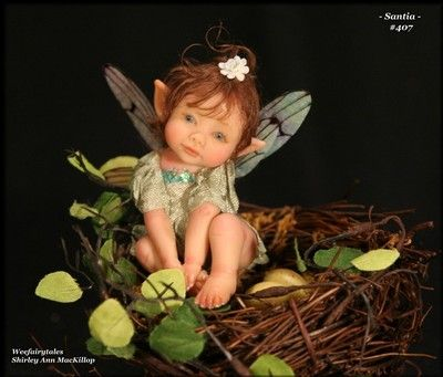 Weefairytales Fairies Fae OOAK Art Doll Girl Fairy Sculpture | eBay