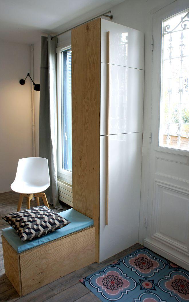 Un meuble sur-mesure à la fois cloison et rangement