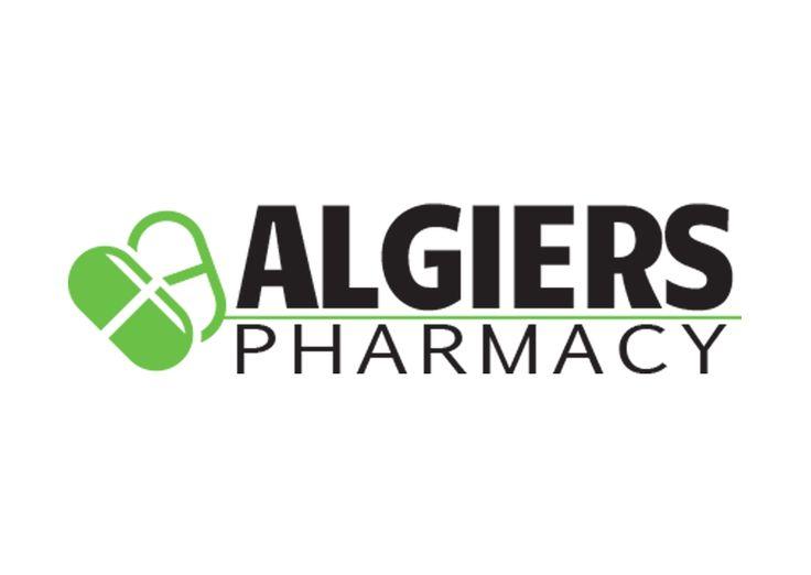 Logo for Algiers Pharmacy in New Orleans, LA.