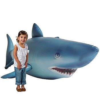 Our Lifelike Inflatable Shark is a huge 84 inch long Shark that is built with excellent quality construction and realistic details.