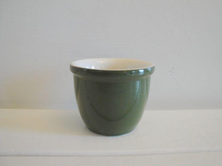 FLASH SALE Vintage Hall Restaurantware Ramekin, MidCentury Hall Egg Cup, Vintage Green Hall Restaurant Ware, Vintage Hall Pottery - $2.45 USD
