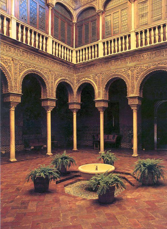 Casa de Pilatos, Sevilla La Casa de Pilatos is an Andalusian palace in Seville, which serves as the permanent residence of the Dukes of Medinaceli. The building is a mixture of Renaissance Italian and Mudéjar Spanish styles.