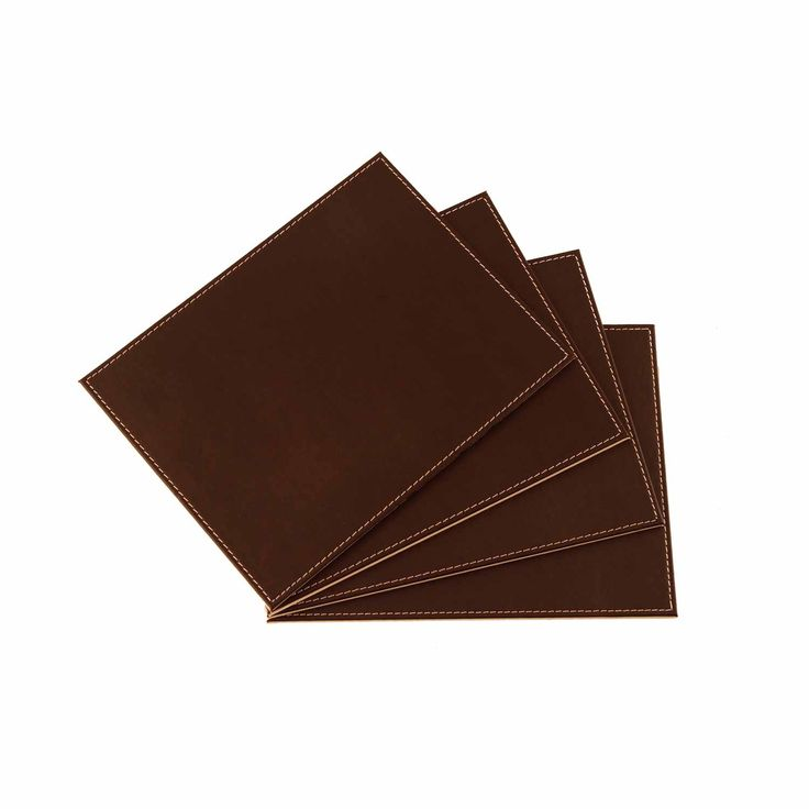 Reversible Faux Leather Chocolate & Cream Placemats 4 Pack