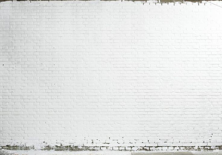 Fotobehang: Witgeverfde Bakstenen
