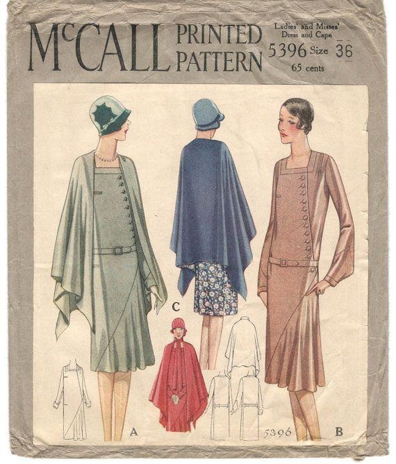 modello abito e capo degli anni venti McCall 5396 di PatternVault