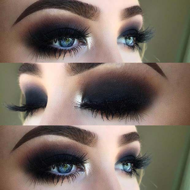 43 Glitzy Nye Makeup Ideas Dramatic Makeup Dark Makeup Eye Makeup