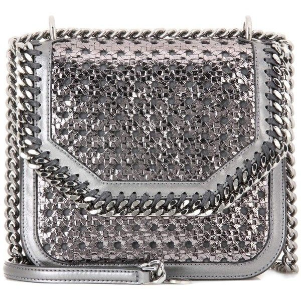 Stella McCartney Falabella Box Shoulder Bag ($695) ❤ liked on Polyvore featuring bags, handbags, shoulder bags, silver, stella mccartney handbags, stella mccartney shoulder bag, shoulder handbags, silver handbags and silver purse