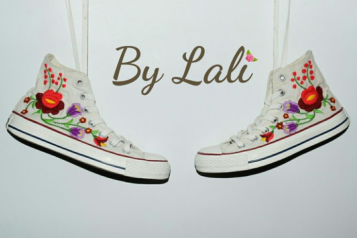 hand embroidery #converse #by lali