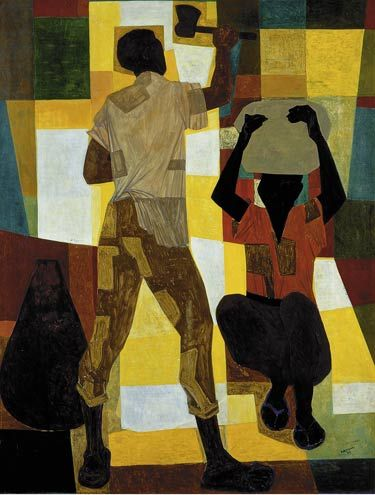 Seringueiros(1954) - Oil on Canvas - Candido Portinari.