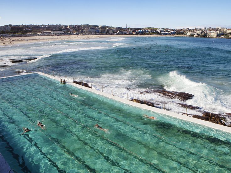It's not a hotel or resort, but we had to include the famous Bondi Baths to our list of best places to take a dip. Located at the Bondi Icebergs Club, this 164-foot-long Olympic-size pool has been a landmark on Australia's Bondi Beach for over 100 years.
