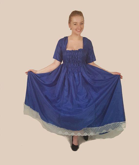 Azul brillante fruncido traje vestido elegante encaje estilo con cabo