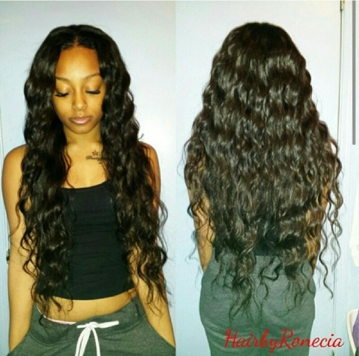 Curly And Long Black Weave Hairstyles 15