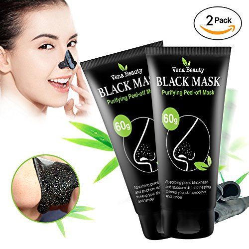 Black Charcoal peel off mask- 2 Pack Vena Beauty Blackhead Remover Purifying Deep Cleansing Facial Black Mask, Deep Pore Cleanse for Acne, Oil Control 2X 60g. For product & price info go to:  https://beautyworld.today/products/black-charcoal-peel-off-mask-2-pack-vena-beauty-blackhead-remover-purifying-deep-cleansing-facial-black-mask-deep-pore-cleanse-for-acne-oil-control-2x-60g/