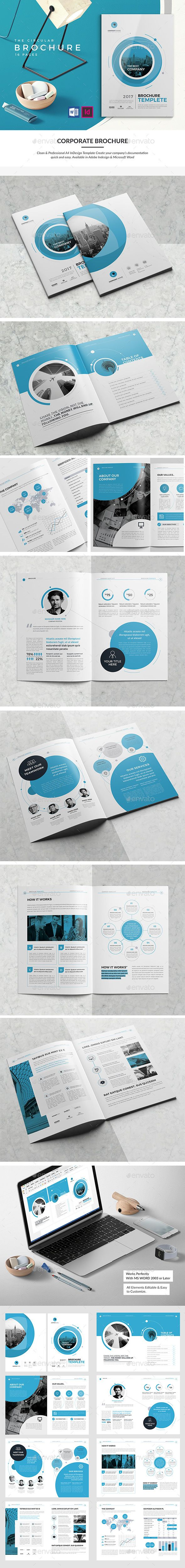 #Co #Brochure #Template 16 Pages V2 - #Corporate #Business #Brochures #Design. Download here: https://graphicriver.net/item/co-brochure-16-pages-v2/19834872?ref=yinkira